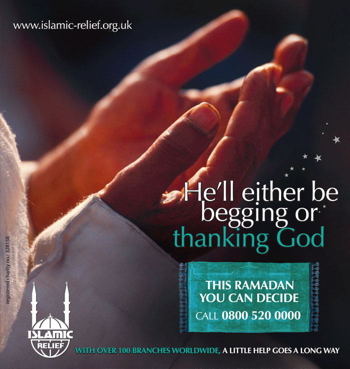 Islamic Relief poster by Salaam Communications